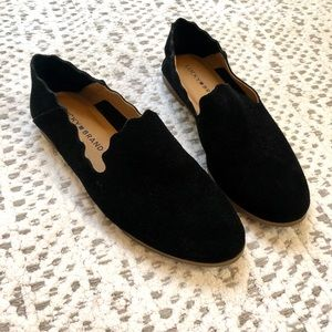 Lucky Brand black suede flats